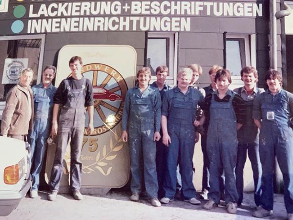 Historisches Bild der Firma Bergmann von 1950